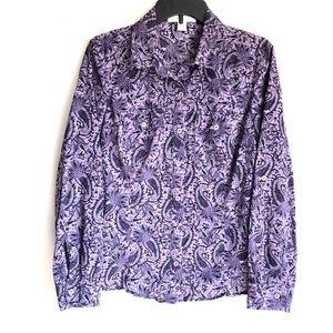 Michael Kors Paisley Button Down Shirt